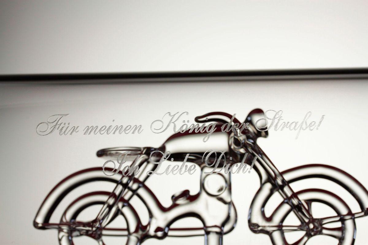 Geschenke Für Motorradfahrer Chopper In Flasche Mit Gravur