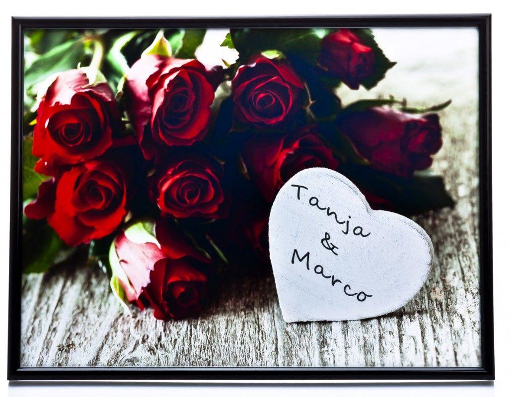 bild rosenstrau romantisches geschenk mit personalisierung. Black Bedroom Furniture Sets. Home Design Ideas