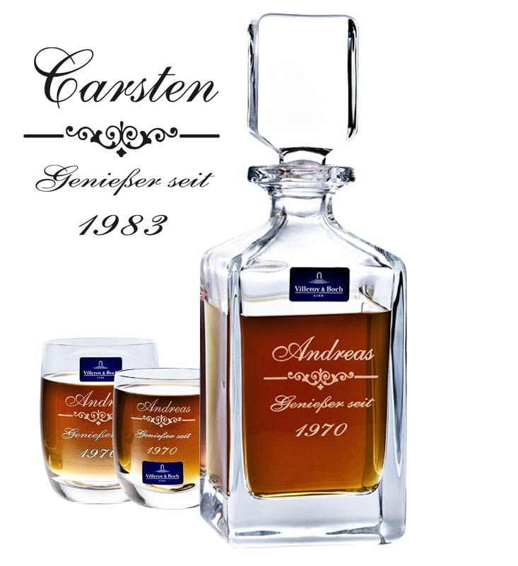 Whiskyflasche mit Gravur als personalisiertes Geschenk